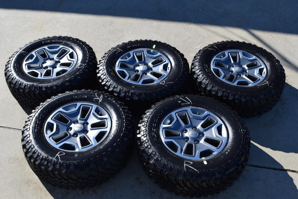 Jeep wheels 17 inch wheels with bf goodrich mud at tires for sale