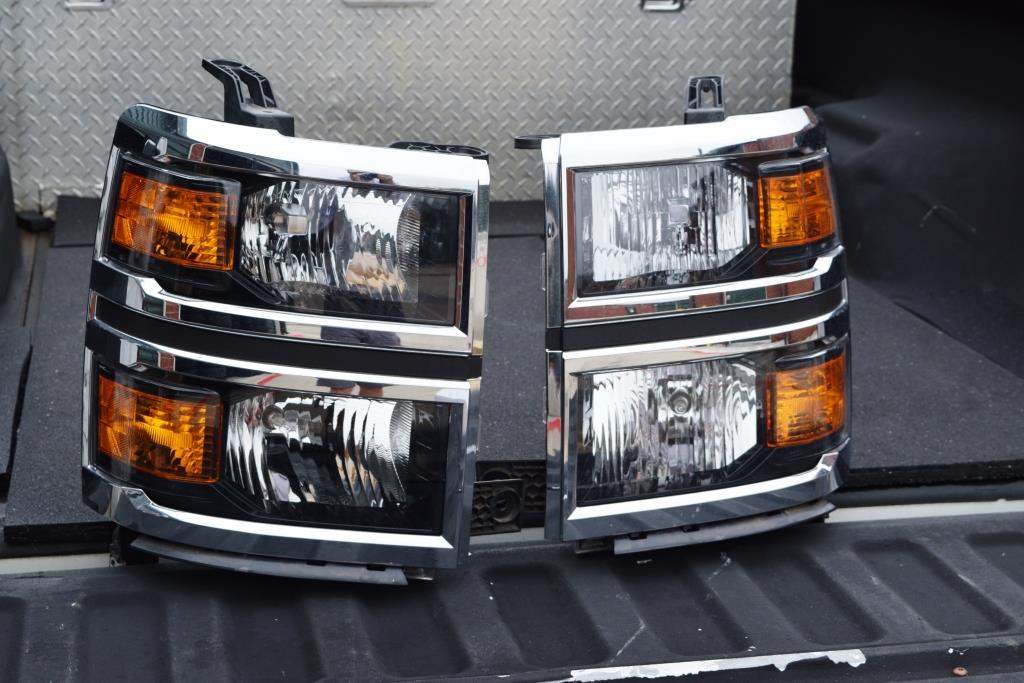 Chevy Dealership Dallas >> Chevy Silverado Headlights Genuine GM OEM Chevrolet Silverado LT 2014 2015 Headlights Dealer ...