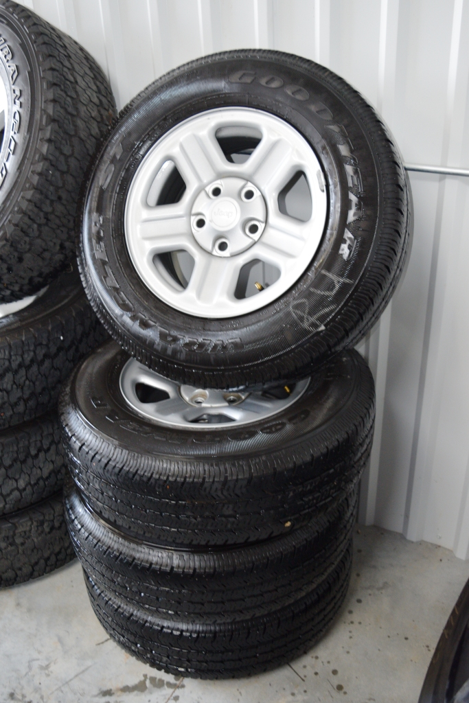 Used Ford Wheels : Jeep inch steel wheels used oem factory rims