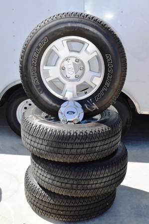 Ford F150 17 inch oem wheels rims michelin tires stock