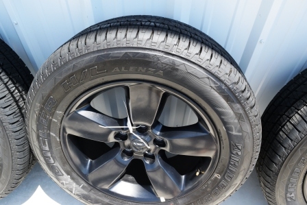 Dodge Ram 1500 20 inch black oem factory wheels and tires