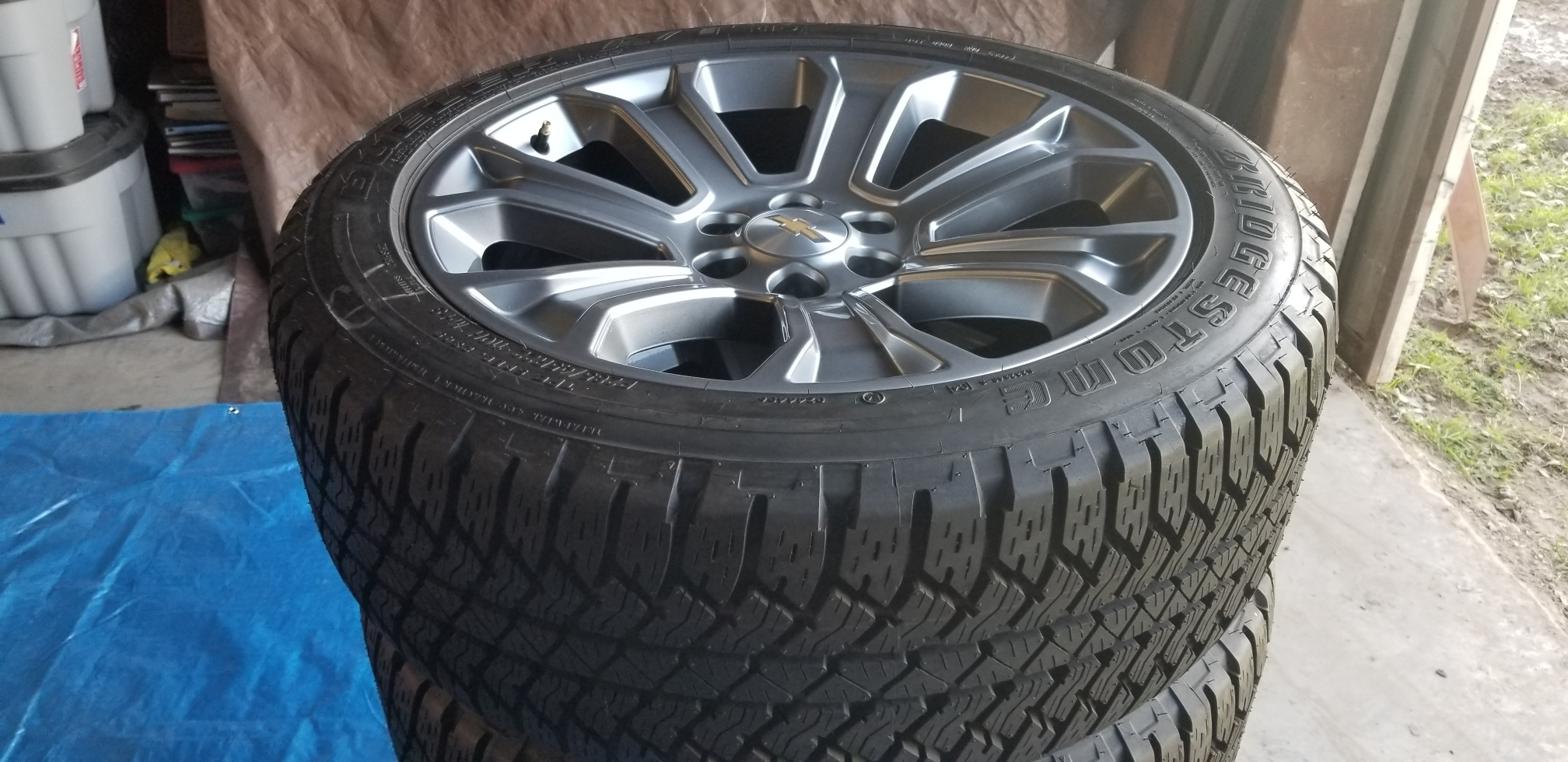 Chevy 22 Inch OEM Factory Wheels Tire Set