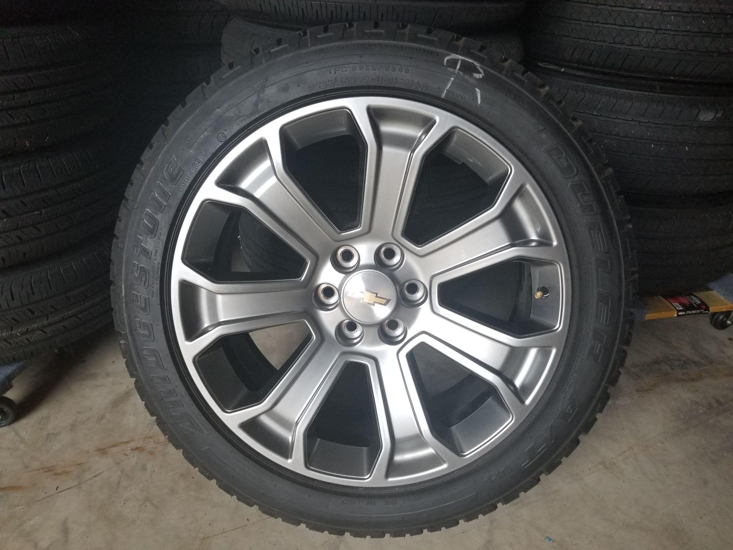 Chevy 22 factory oem wheels